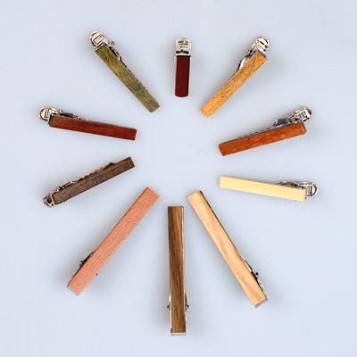Krawattenklammern aus Holz